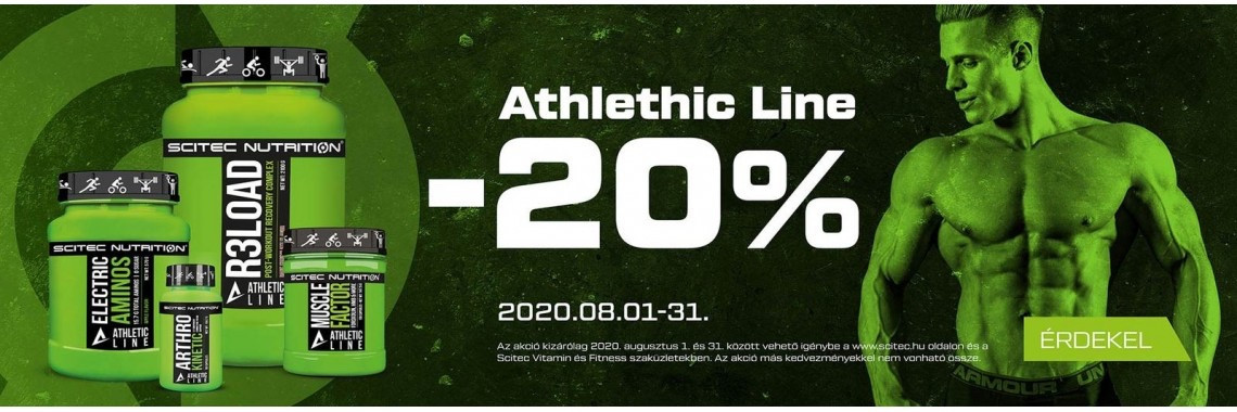 Athletic Line termékcsalád 20% kedvezménnyel 🏊♂️🚴♂️🏃