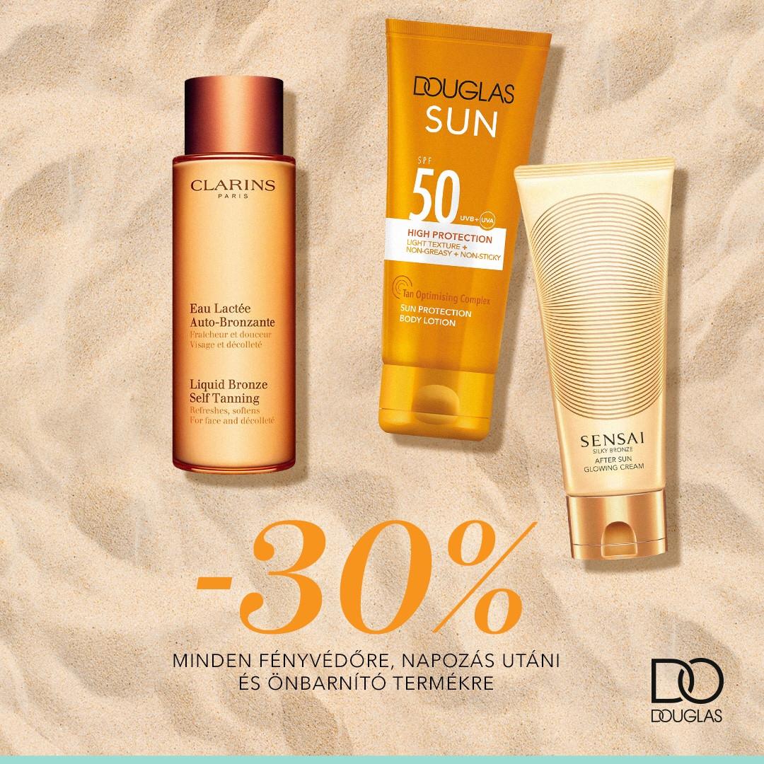 Napozz a Douglassal! Minden napozó termékre -30%! 🌞