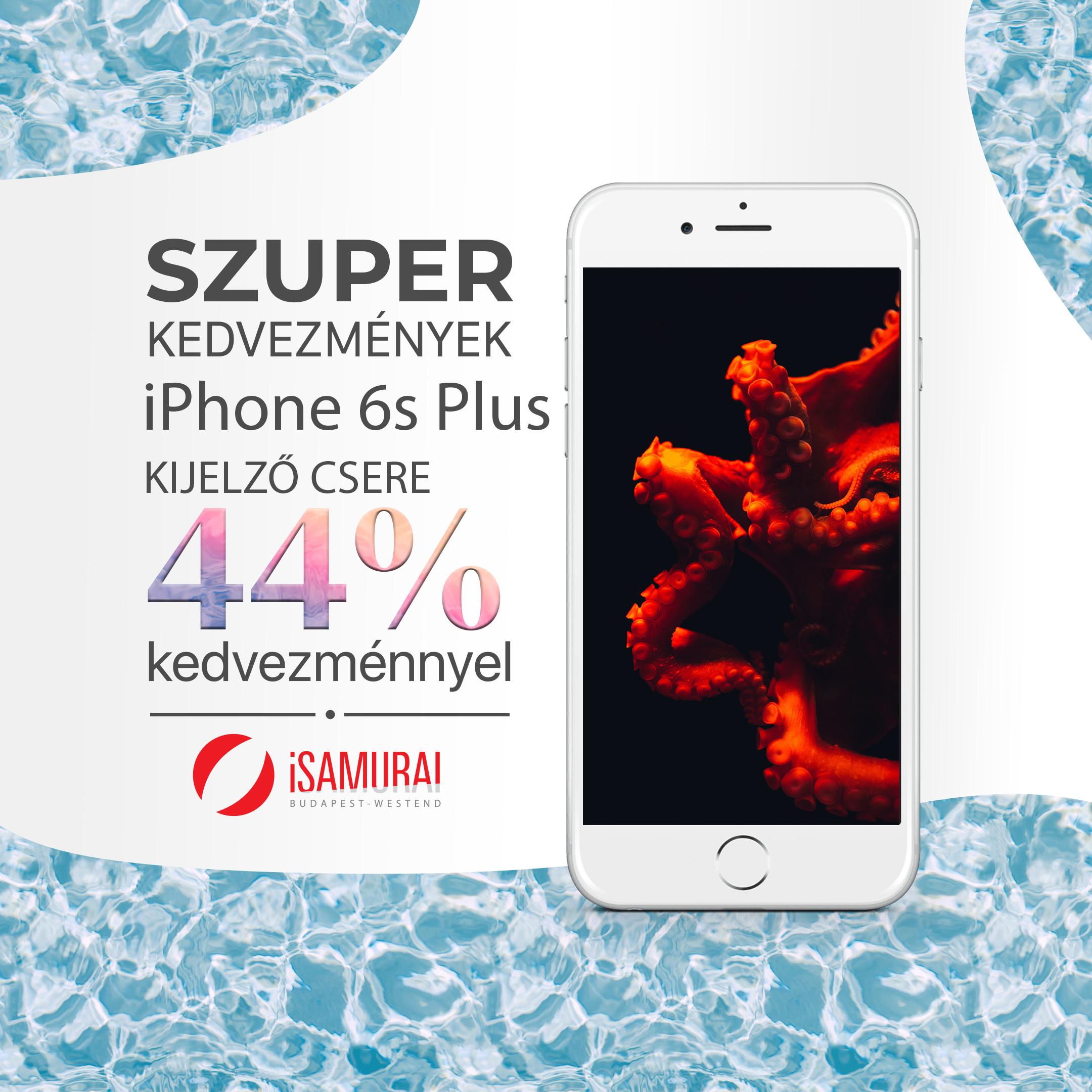 iPhone 6s Plus érintő és kijelző csere - 2020 akciós áron