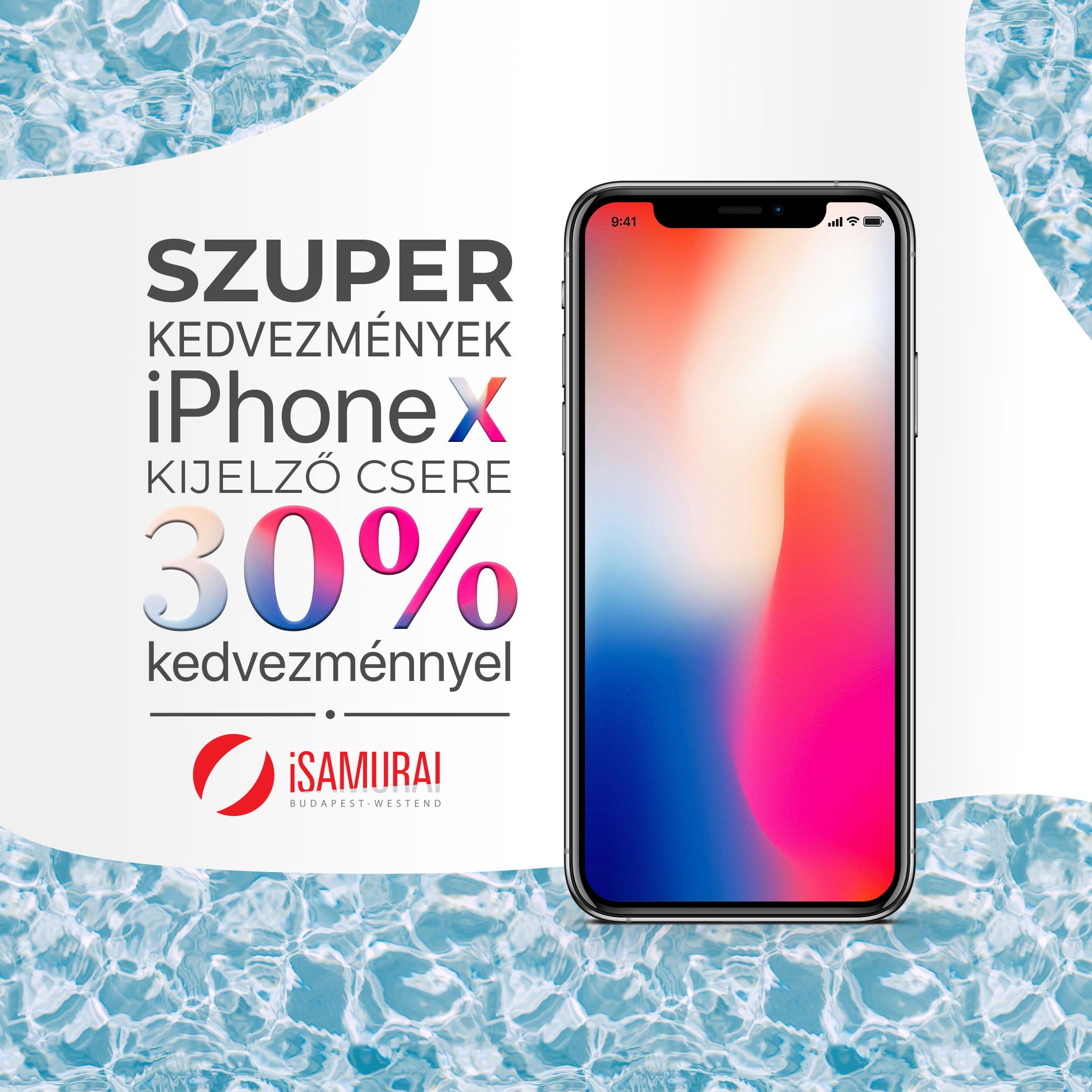 iPhone X érintő és kijelző csere - 2020 akciós áron