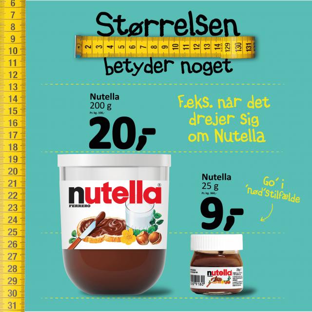 Nutella i forskellige mængder 🥜🤎