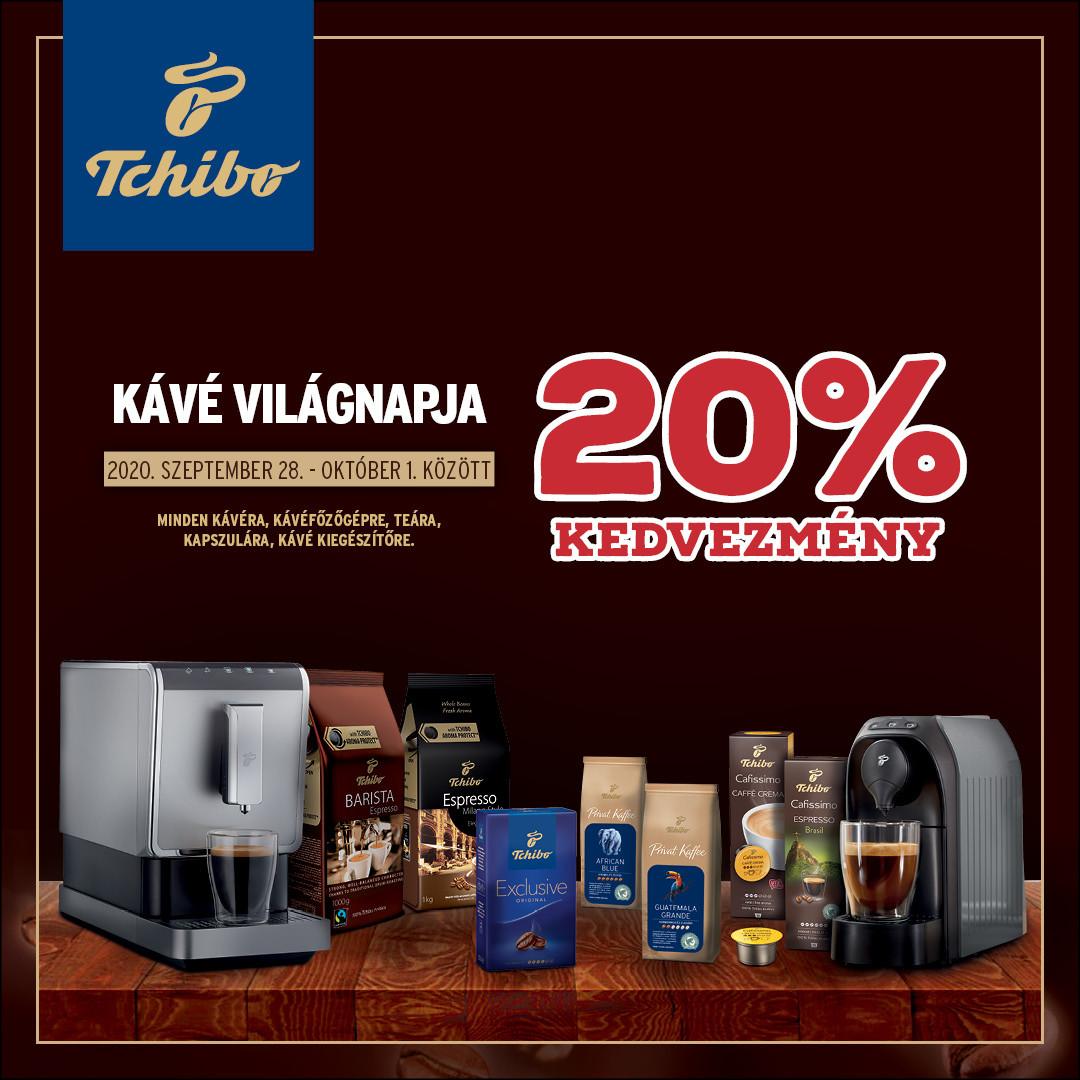 Kávé világnapja - 20% kedvezmény