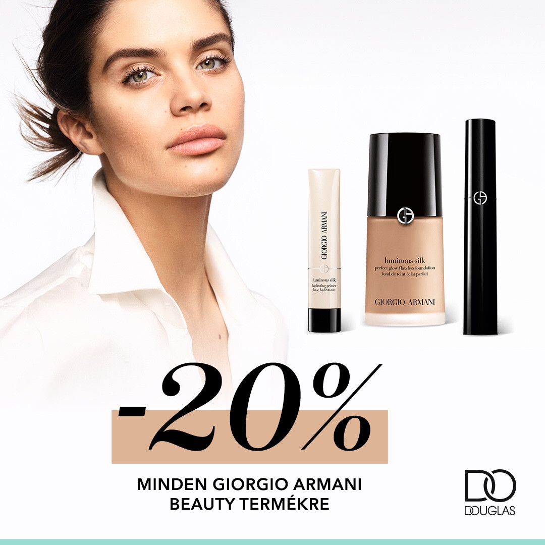 Giogio Armani Beauty termékek -20%-kal a Douglasban! 💋💄