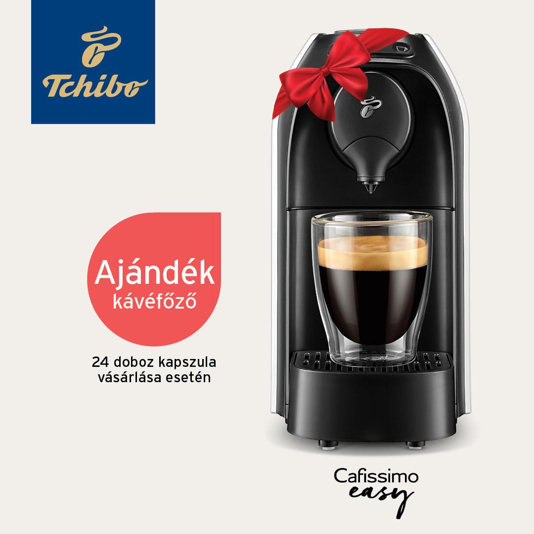 Ajándék kávéfőző 24 doboz kávékapszula után