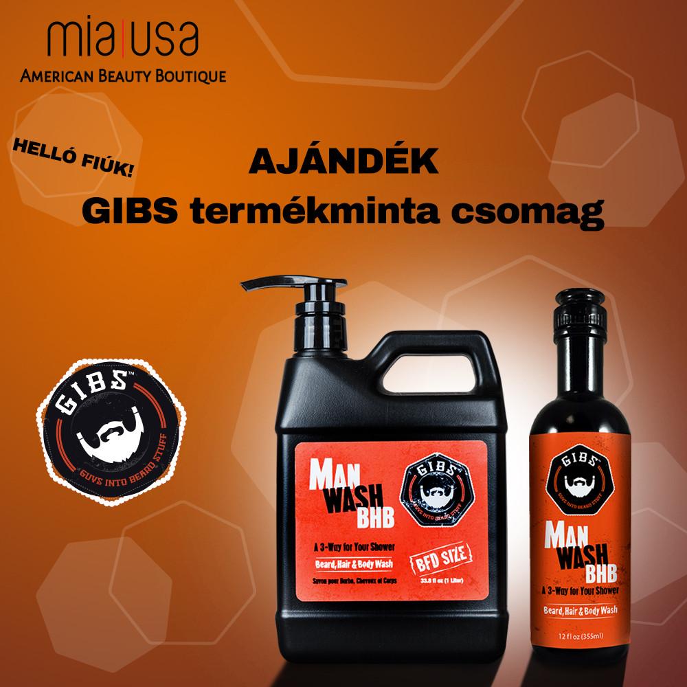 Ajándék GIBS termékminta csomag