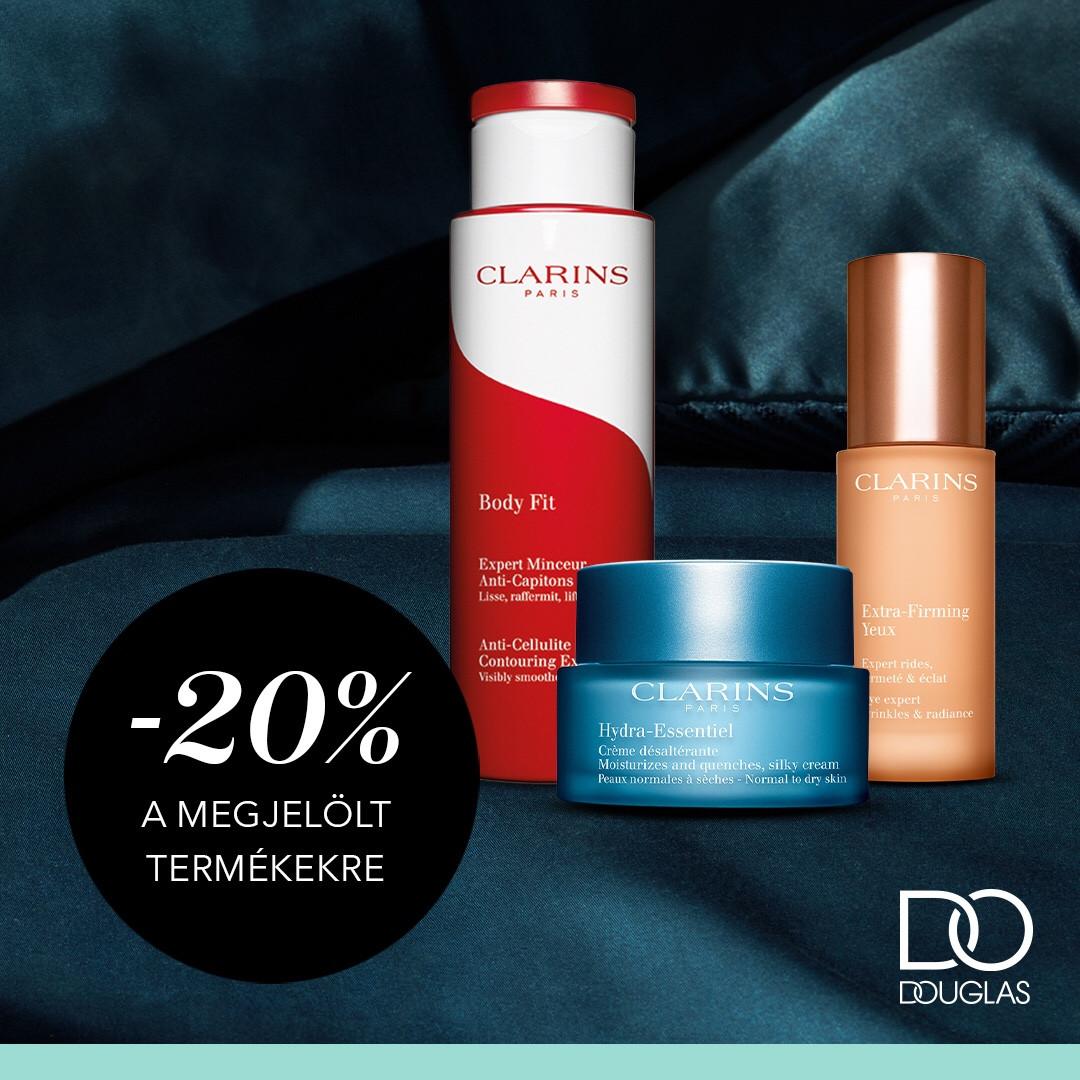 20% kedvezmény a megjelölt Clarins termékekre!🥰