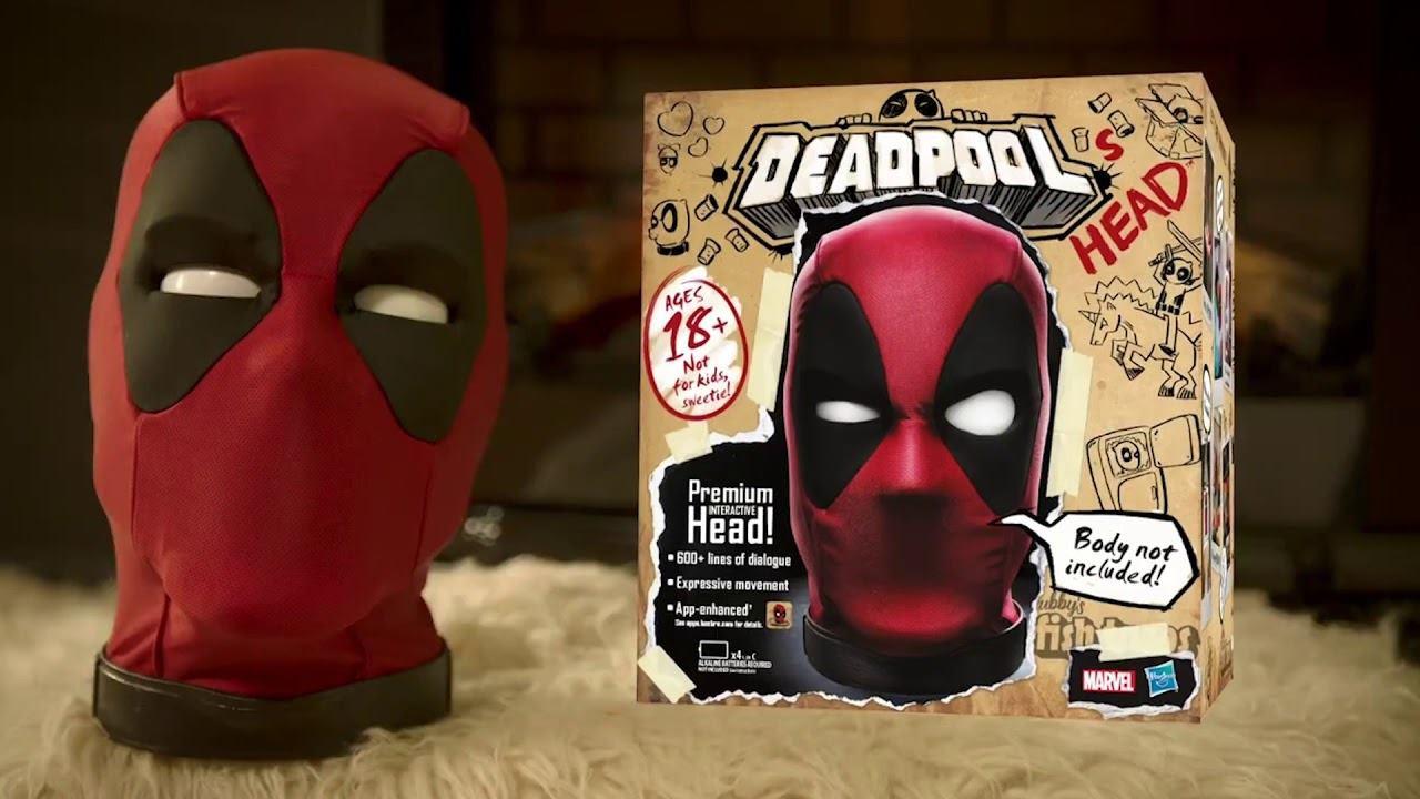 Interaktív Deadpool fej