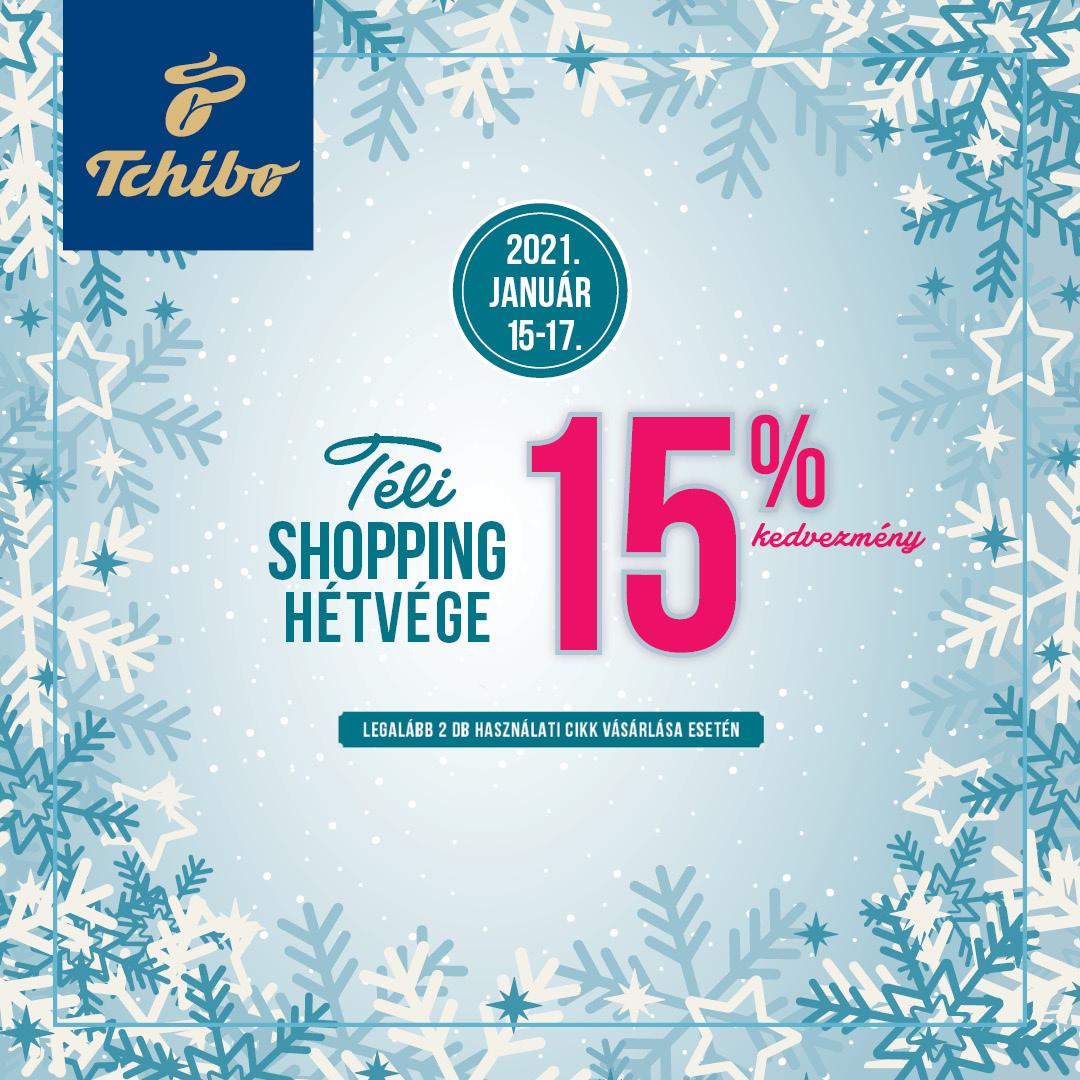 15% kedvezmény - Téli shopping hétvége