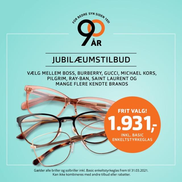 Få briller til 1.931,-