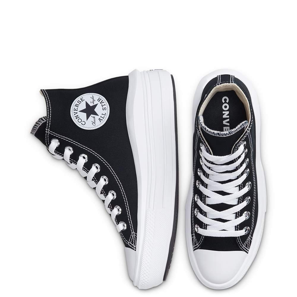 Chuck Taylor All Star Move magas fekete