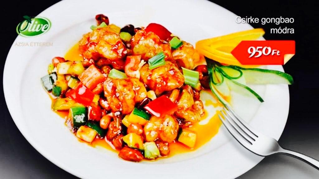 Csirke gongbao módra