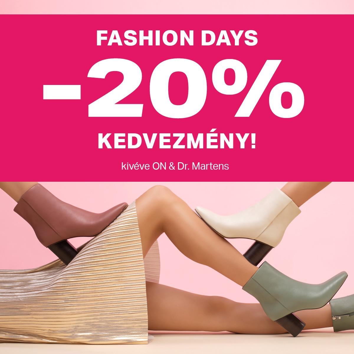 Fashion Days ❗ 20% kedvezmény mindenre* 👀