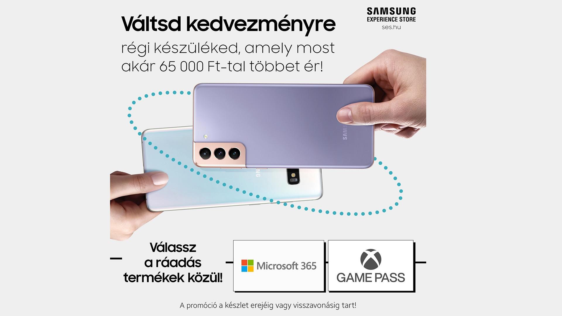 Válts most Samsung Galaxy S21 szériás készülékre!