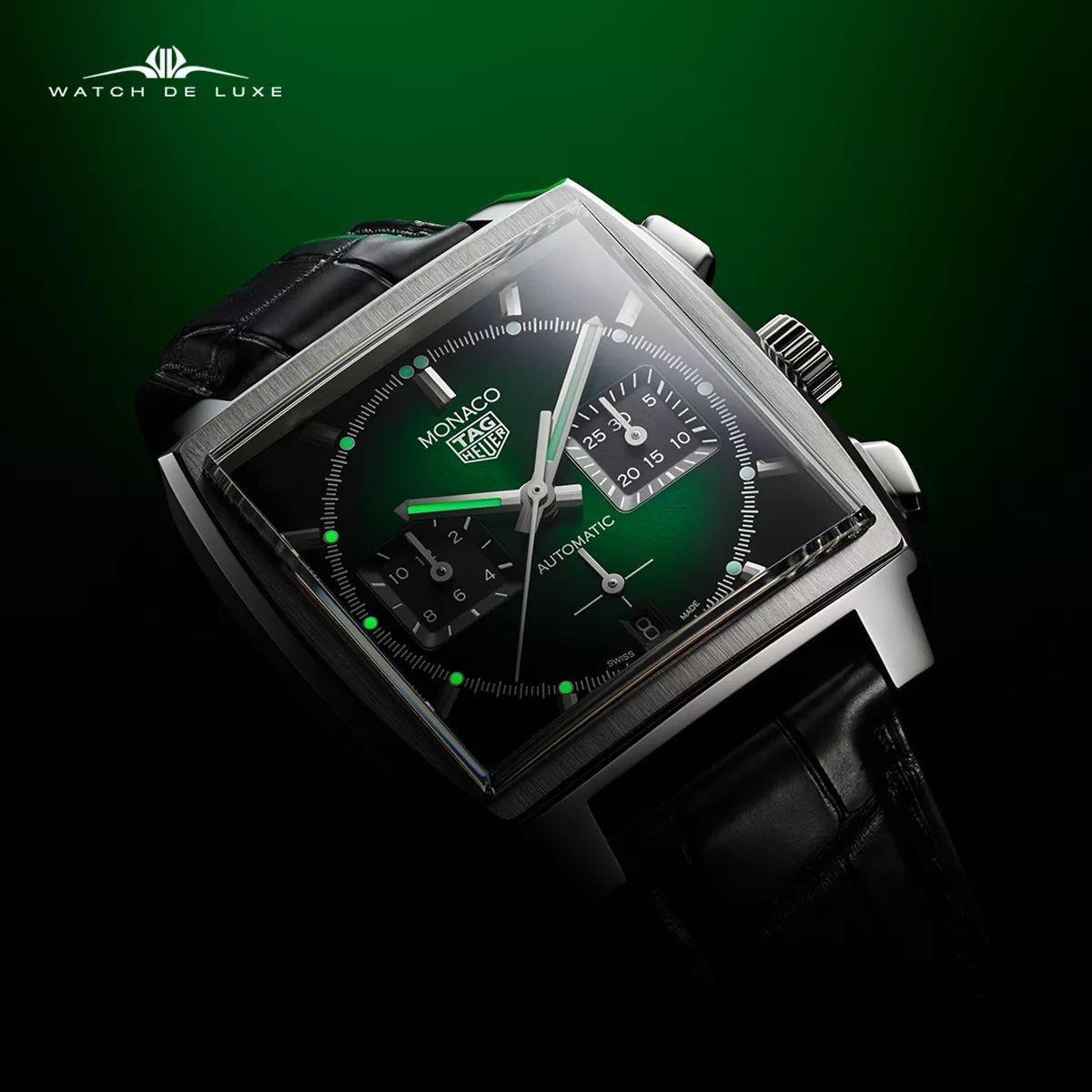 TAG Heuer   Monaco - Green dial - CBL2116.FC6497