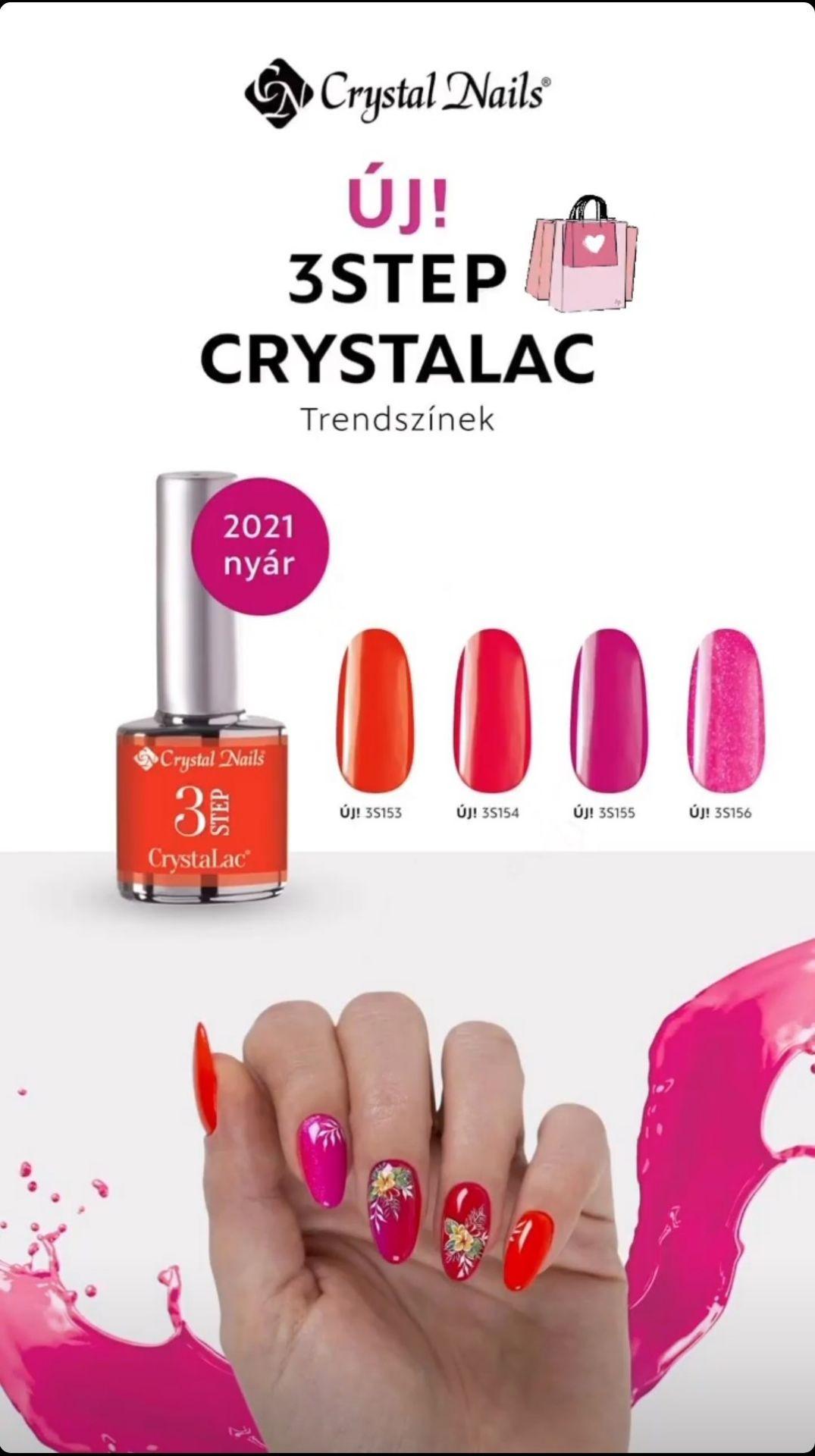 Crystal Nails 2021 Nyár új 3Step CrystaLac-ok