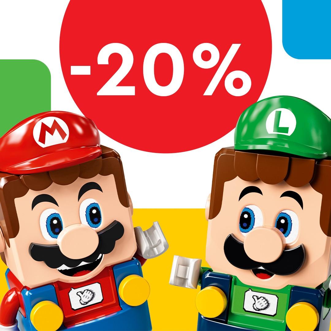 LEGO Super Mario kiegészítők 20% kedvezménnyel
