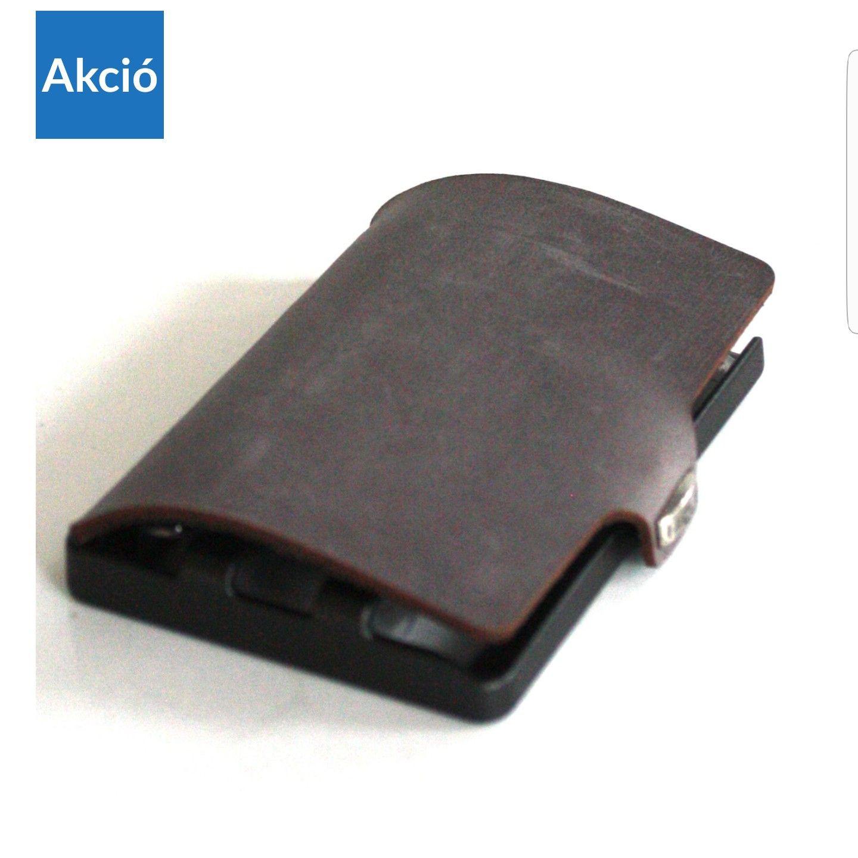 i-Clip bőr bankkártya tartó – szürke soft touch
