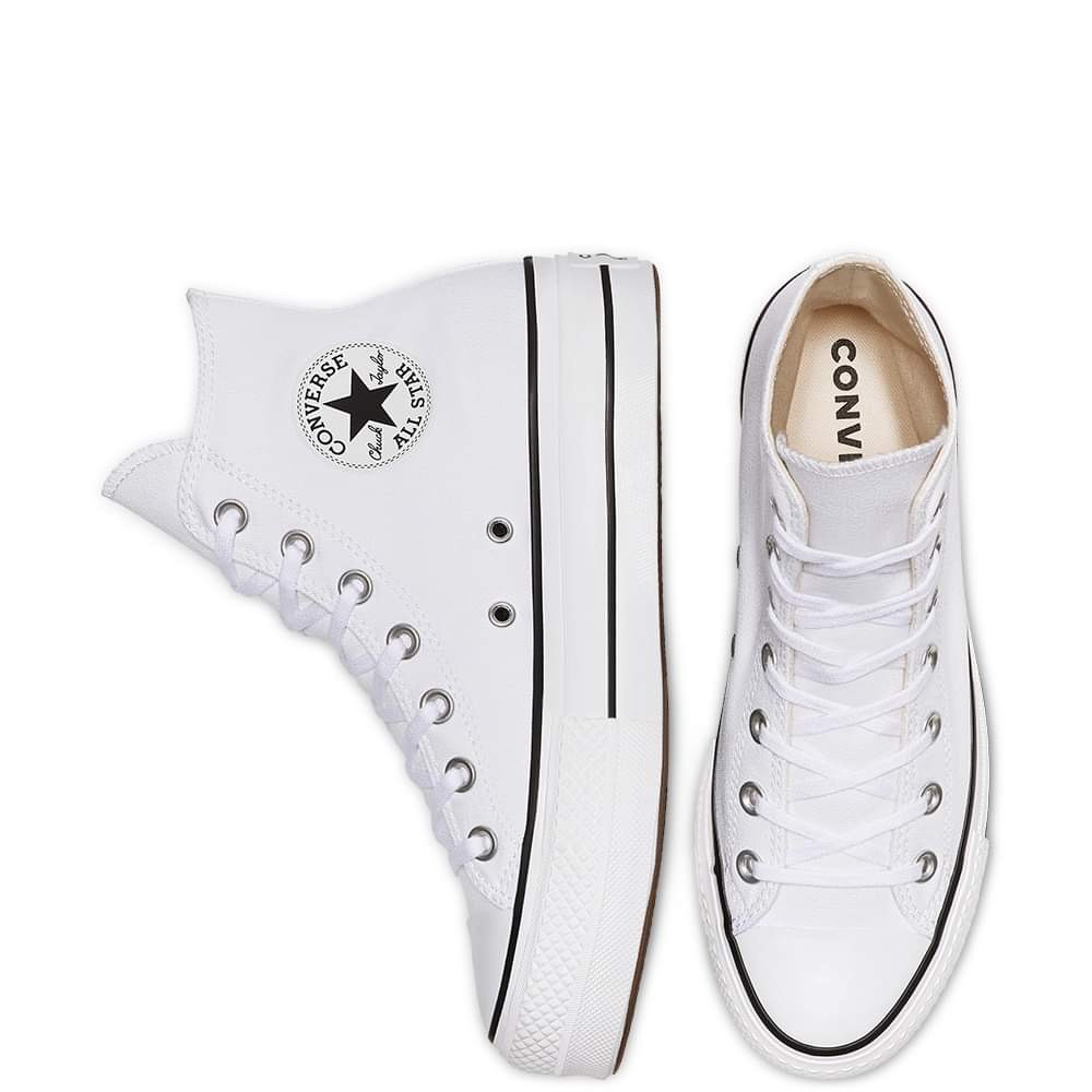 Converse Chuck Taylor All Star Leather Platform White