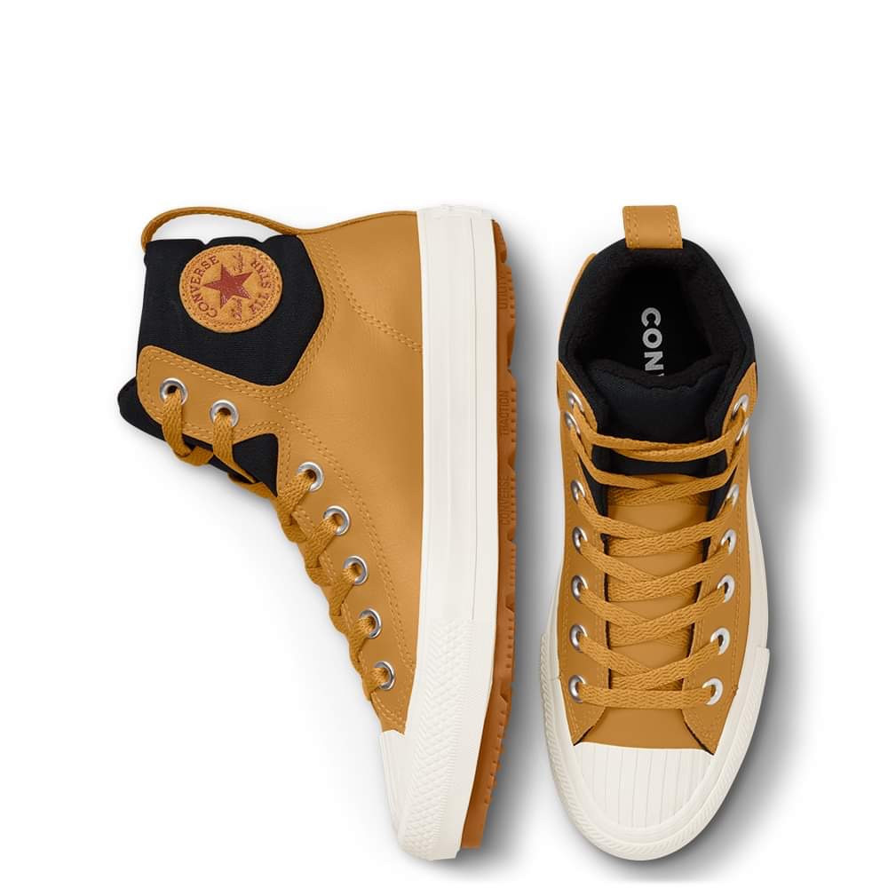 Chuck Taylor All Star Berkshire Boot Leather Kids Brown